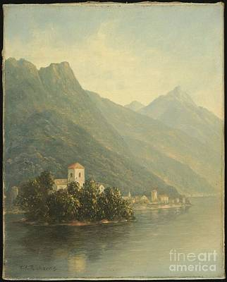 Mountains Painting - Title Lake In The Mountains by Thomas Addison