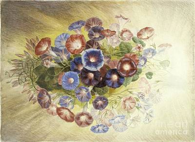 Morning Painting - Title Morning Glories by Samuel Colman