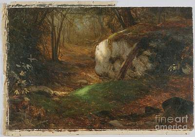 Mcentee Painting - Title Mossy Bank by Jervis McEntee