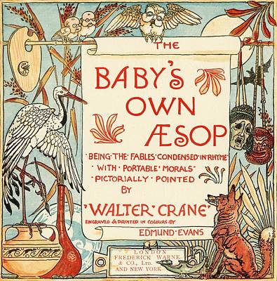 Moral Drawing - Title Page From The Book Babys Own by Vintage Design Pics