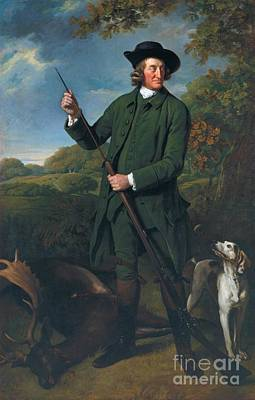 Nathaniel Painting - Title Thomas Nuthall With A Dog And Gun by Sir Nathaniel Dance