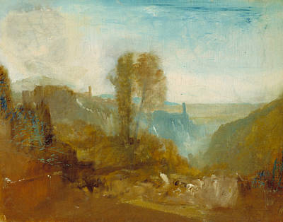 Italian Landscape Painting - Tivoli The Cascatelle by Joseph Mallord William Turner