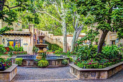 Tlaquepaque Shopping Village -  Sedona  Arizona Print by Jon Berghoff