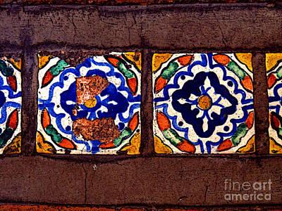 Tlaquepaque Tile Study 1 Print by Mexicolors Art Photography