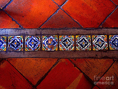 Tlaquepaque Tile Study 2 Print by Mexicolors Art Photography