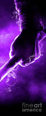 Tmnt 2   -  Donatello Smoky Purple. Print by Prarthana Kulasekara