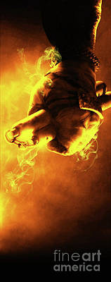 Vertical Digital Art - Tmnt 3   -  Michelangelo Smoky Yellow. by Prarthana Kulasekara