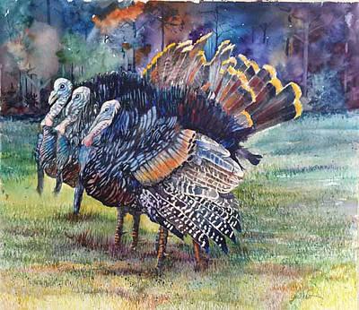 Florida Wild Turkey Painting - Tn Hut by Glen Ward