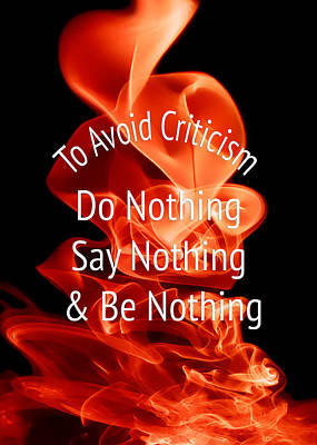 To Avoid Criticism 5459.02 Print by M K  Miller