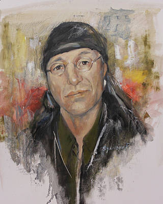 Trudell Painting - To Honor John Trudell by Synnove Pettersen