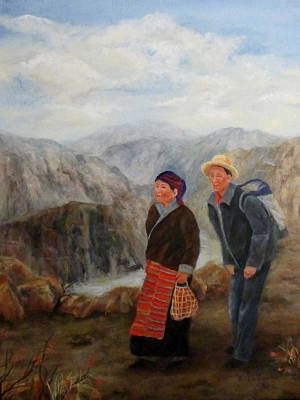 Painting - To Market by Roseann Gilmore