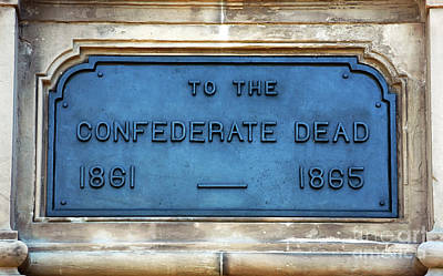 To The Confederate Dead Print by John Rizzuto