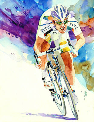 Cycles Painting - To The Finish by H Lee Shapiro