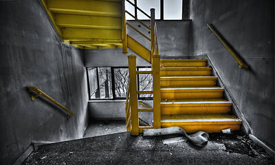 Steps Photograph - To The Higher Ground by Evelina Kremsdorf