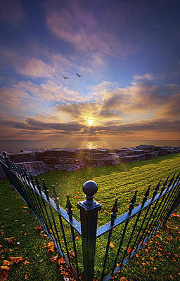 Fence Posts Photograph - To The Shore And Horizon's Bounty by Phil Koch