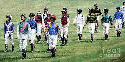To Their Mounts Print by Thomas Allen Pauly