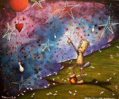 Painting - To You Love Life And Happyness by Fabio Napoleoni