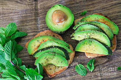 Avacados Photograph - Toasted Avocado Sandwich by Tracy  Hall