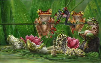 Painting - Toasted Frogs by Wayne Pruse