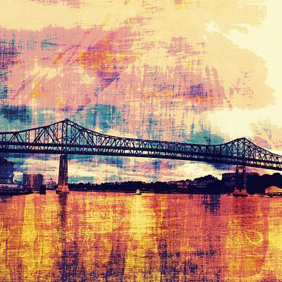 Tobin Bridge Boston Ma Print by Brandi Fitzgerald