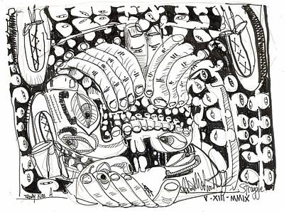 Abstract Expressionism Drawing - Today Was A Struggle by Robert Wolverton Jr