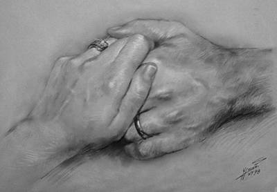 Fine Art Drawing - Together For Ever by Ylli Haruni