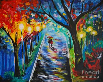 Nightime Painting - Together by Leslie Allen