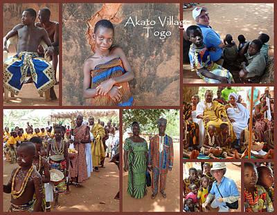 Togo Village In West Africa Collage Print by David Smith