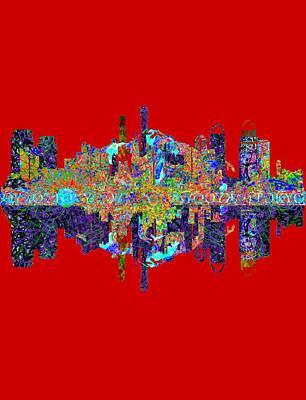 Tokyo Skyline Digital Art - Tokyo Japan by John Groves