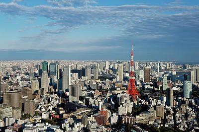 Tokyo View At Daylight Print by Vladimir Zakharov