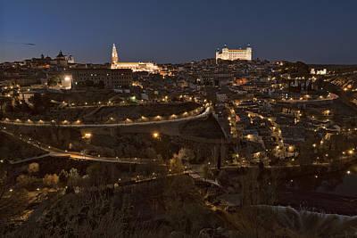 Spanish Landscape Photograph - Toledo By Night by Joan Carroll