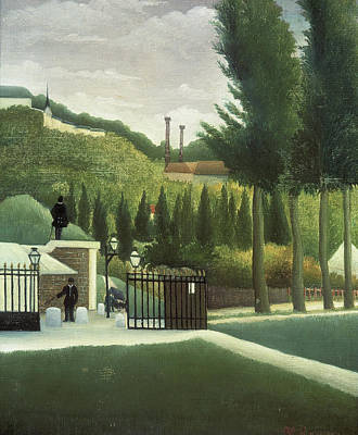 Pseudo Painting - Toll Gate, The Customs Post by Henri Rousseau