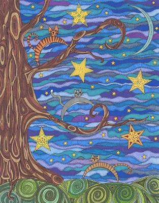 Moonlit Night Drawing - Tom Cattin' by Pamela Schiermeyer