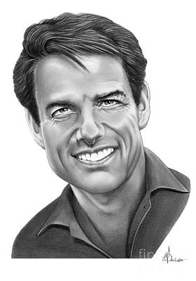 Famous People Drawing - Tom Cruise by Murphy Elliott