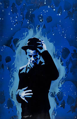 Stencil Art Painting - Tom Waits by Tai Taeoalii