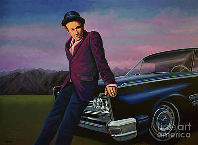 Famous Book Painting - Tom Waits by Paul Meijering