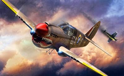 Us Army Air Force Digital Art - Tomahawk Chop by Peter Chilelli