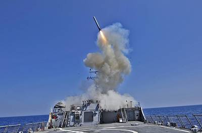 Tomahawk Cruise Missile Launched Print by Everett