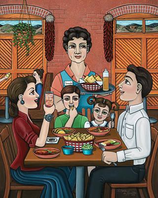 Meal Painting - Tomasitas Restaurant by Victoria De Almeida