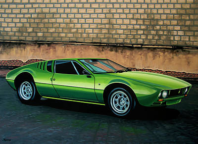 Headlight Painting - Tomaso Mangusta 1967 Painting by Paul Meijering