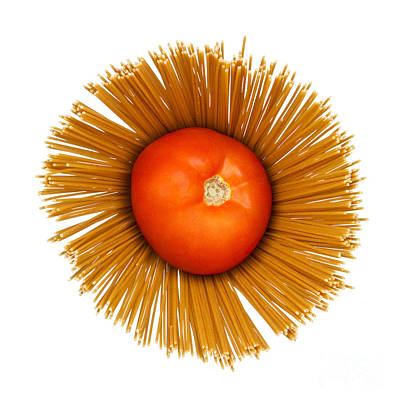 Tomato Photograph - Tomato And Pasta by Blink Images