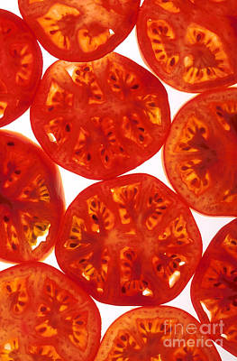 Tomato Photograph - Tomato Slices by Photo Researchers