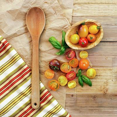 Colander Photograph - Tomato Still Life 2 by Rebecca Cozart