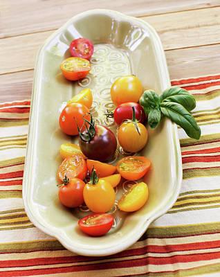 Colander Photograph - Tomato Still Life 4 by Rebecca Cozart