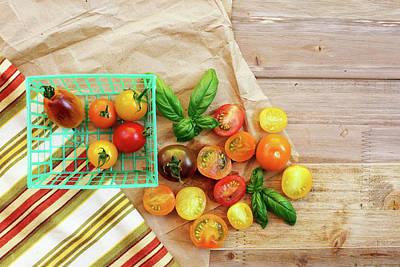 Colander Photograph - Tomato Still Life 6 by Rebecca Cozart
