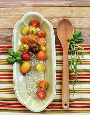 Colander Photograph - Tomato Still Life 7 by Rebecca Cozart