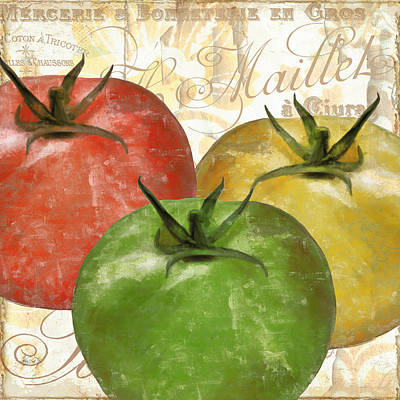 Foodie Painting - Tomatoes Tomates by Mindy Sommers