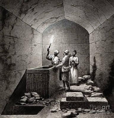Tomb Chamber Of Menkaura Print by Pat Nicolle