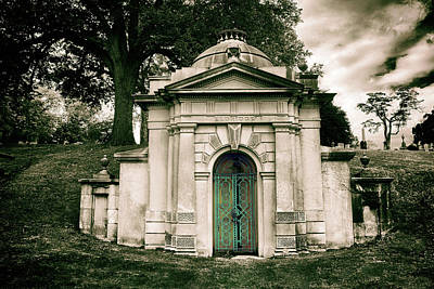 Haunting Digital Art - Tomb Of Woodlawn by Jessica Jenney