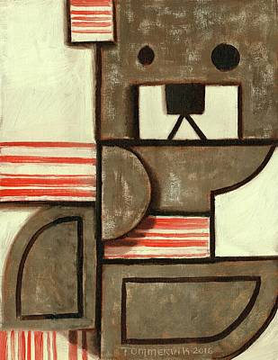 Painting - Tommervik Abstract Bear Art Print by Tommervik